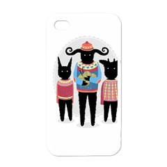 Nightmare Knitting Party Apple Iphone 4 Case (white) by Contest1888822