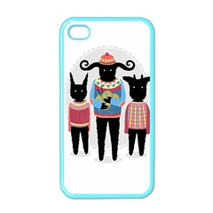 Nightmare Knitting Party Apple Iphone 4 Case (color) by Contest1888822