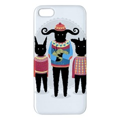 Nightmare Knitting Party Apple Iphone 5 Premium Hardshell Case by Contest1888822