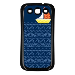 Sail The Seven Seas Samsung Galaxy S3 Back Case (black) by Contest1888822