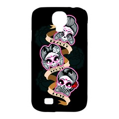 Skull Beauties Samsung Galaxy S4 Classic Hardshell Case (pc+silicone) by TheTalkingDead