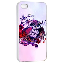 Spring Owl Apple Iphone 4/4s Seamless Case (white)