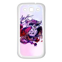 Spring Owl Samsung Galaxy S3 Back Case (white)