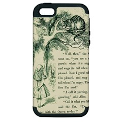Alice In Bookland Apple Iphone 5 Hardshell Case (pc+silicone) by TheTalkingDead