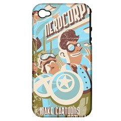 Nerdcorps Apple Iphone 4/4s Hardshell Case (pc+silicone)