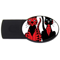 Cool Cats 4gb Usb Flash Drive (oval) by StuffOrSomething