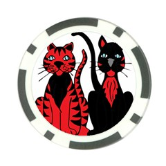 Cool Cats Poker Chip (10 Pack) by StuffOrSomething