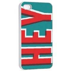 Hey Apple Iphone 4/4s Seamless Case (white)