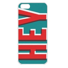 Hey Apple Iphone 5 Seamless Case (white)