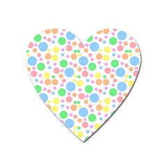Pastel Bubbles Magnet (heart) by StuffOrSomething