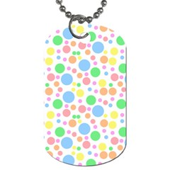 Pastel Bubbles Dog Tag (two Sided)  by StuffOrSomething