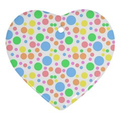 Pastel Bubbles Heart Ornament (two Sides) by StuffOrSomething