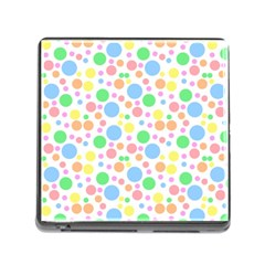 Pastel Bubbles Memory Card Reader With Storage (square) by StuffOrSomething