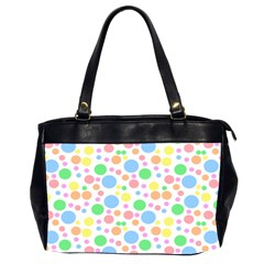 Pastel Bubbles Oversize Office Handbag (two Sides) by StuffOrSomething