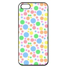 Pastel Bubbles Apple Iphone 5 Seamless Case (black) by StuffOrSomething