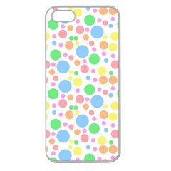Pastel Bubbles Apple Seamless Iphone 5 Case (clear) by StuffOrSomething