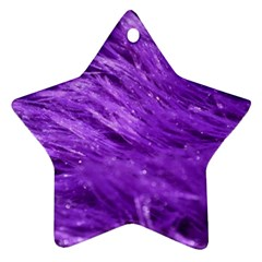 Purple Tresses Star Ornament