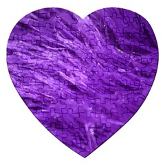 Purple Tresses Jigsaw Puzzle (heart) by FunWithFibro
