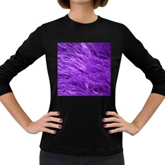 Purple Tresses Women s Long Sleeve T Shirt (dark Colored)
