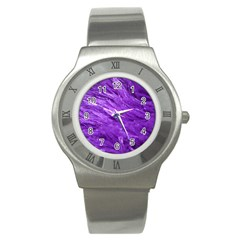Purple Tresses Stainless Steel Watch (slim)