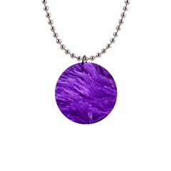 Purple Tresses Button Necklace by FunWithFibro
