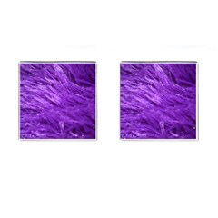 Purple Tresses Cufflinks (square)