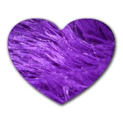 Purple Tresses Mouse Pad (heart) by FunWithFibro