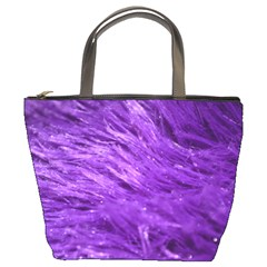 Purple Tresses Bucket Handbag by FunWithFibro
