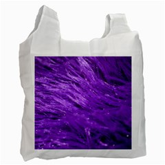 Purple Tresses White Reusable Bag (one Side) by FunWithFibro