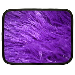 Purple Tresses Netbook Sleeve (xl) by FunWithFibro