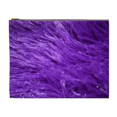 Purple Tresses Cosmetic Bag (xl) by FunWithFibro