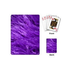 Purple Tresses Playing Cards (mini) by FunWithFibro
