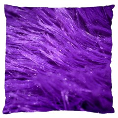 Purple Tresses Large Cushion Case (two Sided)  by FunWithFibro