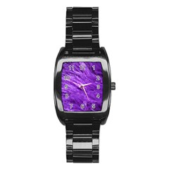 Purple Tresses Stainless Steel Barrel Watch by FunWithFibro