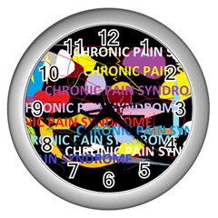 Chronic Pain Syndrome Wall Clock (silver) by FunWithFibro