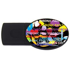 Chronic Pain Syndrome 4gb Usb Flash Drive (oval) by FunWithFibro
