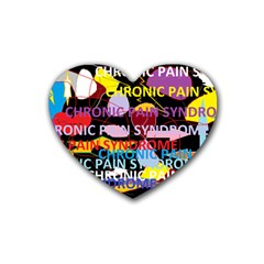 Chronic Pain Syndrome Drink Coasters (heart)