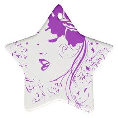 Purple Woman Of Chronic Pain Star Ornament