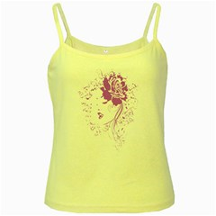 Purple Woman Of Chronic Pain Yellow Spaghetti Tank by FunWithFibro