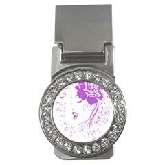 Purple Woman Of Chronic Pain Money Clip (cz) by FunWithFibro