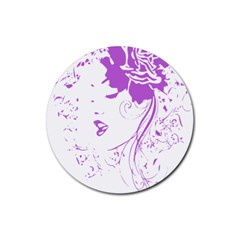 Purple Woman Of Chronic Pain Drink Coaster (round)
