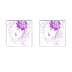Purple Woman Of Chronic Pain Cufflinks (square)