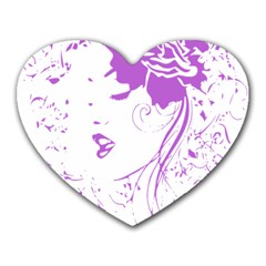 Purple Woman Of Chronic Pain Mouse Pad (heart)