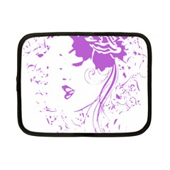 Purple Woman Of Chronic Pain Netbook Sleeve (small)