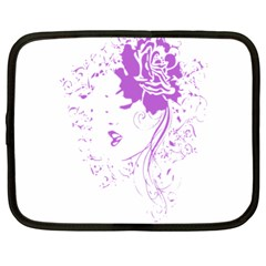 Purple Woman Of Chronic Pain Netbook Sleeve (xl) by FunWithFibro