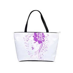 Purple Woman Of Chronic Pain Large Shoulder Bag by FunWithFibro