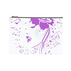 Purple Woman Of Chronic Pain Cosmetic Bag (large)