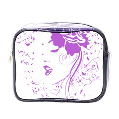 Purple Woman Of Chronic Pain Mini Travel Toiletry Bag (one Side)