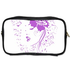 Purple Woman Of Chronic Pain Travel Toiletry Bag (two Sides) by FunWithFibro