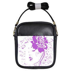 Purple Woman Of Chronic Pain Girl s Sling Bag